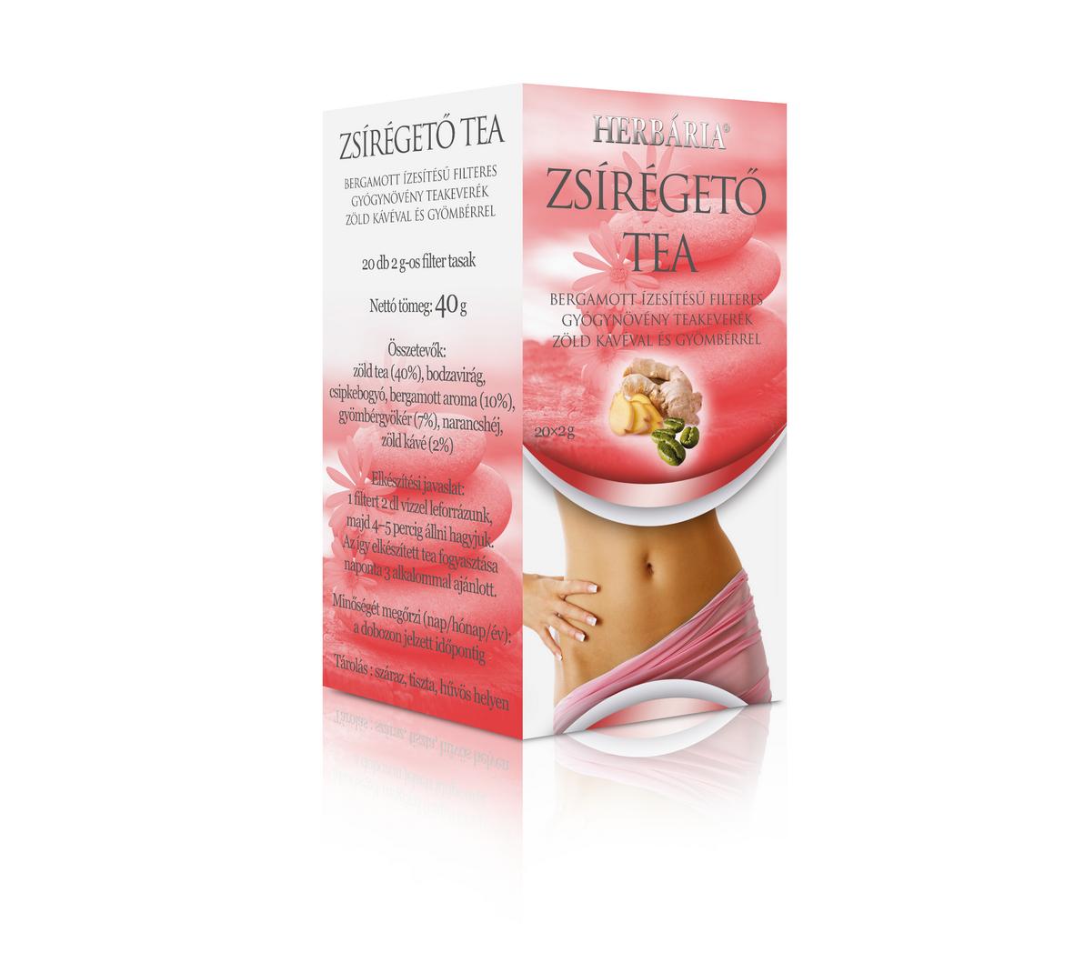Herbária zsírégető tea - 20 filter - VitaminNagyker webáruház